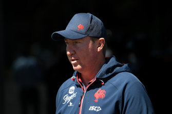 Roosters coach Trent Robinson has been tested for COVID-19.