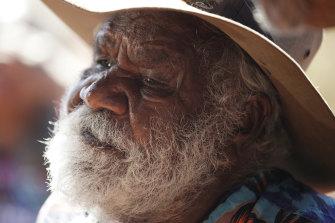 Traditional owner Reggie Uluru is finally happy.