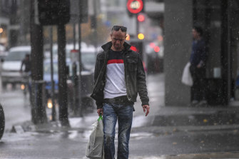 The rain hit South Yarra on Wednesday afternoon.