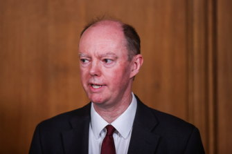 British Chief Medical Officer for England Chris Whitty sees merit in reducing the disruption to young people's lives.