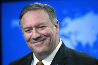Former secretary of state Mike Pompeo has said he is not aware of the missing bottle.