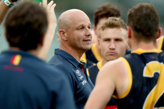 """First-year Adelaide coach Matthew Nicks is """"gutted"""" by the Crows' training transgression."""
