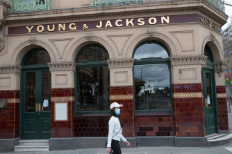 The Young & Jackson pub in Melbourne has been listed as a tier one exposure site, with people required to get tested immediately and quarantine for 14 days from exposure.