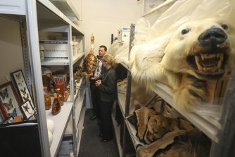 Hundreds of items are stored in the basement of a government building in Canberra after being confiscated by officials.