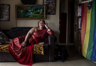 """Olivia Bright, 66, is a transgender Wiradjuri woman who expected to """"be taken out in a body bag"""" when she moved into the estate."""