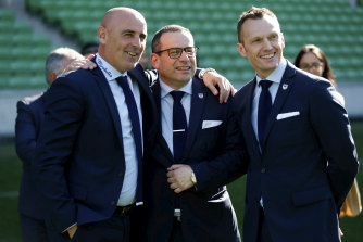 Victory chief executive Trent Jacobs (right) said the club will 'consider all its options'.