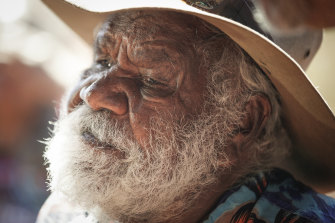 Traditional Owner Reggie Uluru the morning after the closure.