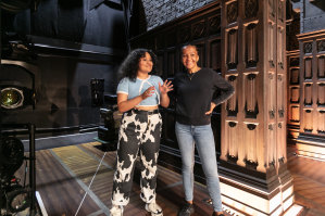 Manali Datar (left) and Paula Arundell at rehearsals.