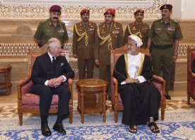 Prince Charles, pictured here with Oman's new Sultan Haitham bin Tariq Al Said, was said to be flying back from the Gulf to attend the Queen's emergency summit.
