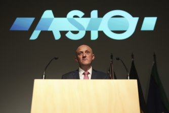 Director-General of Security Mike Burgess made his annual threat assessment speech in Canberra on Wednesday.