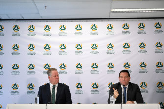 A-League boss Greg O'Rourke and FFA chief executive James Johnson face the unenviable task of mapping football's way out of the coronavirus crisis.