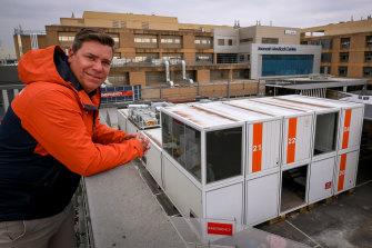 Mark Davis of Spacecube at the Monash Hospital in Clayton.