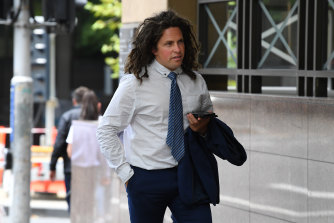 Callum Buczak arrives at court in January.