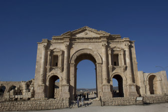 Jordanian officials say the attacker stabbed tourists and their tour guide at a popular archaeological site in Jerash.