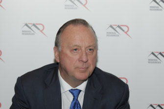 Now a billionaire, Mineral Resources' managing director Chris Ellison.