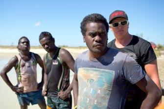 Black As on NITV features Yolngu men Jerome Lilypiyana, Chico Wanybarrnga, Dino Wanybarrnga, and their adopted friend Joe Smith.