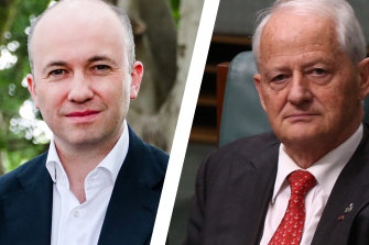 NSW Environment Minister Matt Kean (left) and mayor Philip Ruddock: both hail from Hornsby and were concerned about the impacts land-clearing codes would have on native bushland in their region.