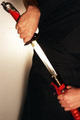 Javier hid the sword under her bed.