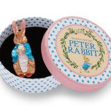 Brooche inspired by Beatrix Potter's beloved children's classic: Peter Rabbit.