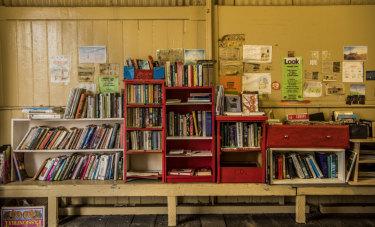 The book selection at Balmain ferry wharf.