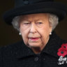 The Queen sits alone as she farewells Prince Philip at Windsor Castle