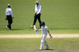 Steve Smith wasn't happy with the umpires after he was dismissed on Tuesday.