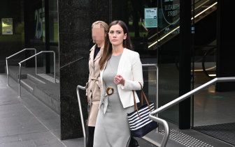 Sarah Vasey leaves the ICAC after giving evidence last week.