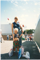 Nadia, aged 5, at the Sydney Easter Show with her mum, Sharon.