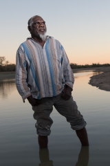 Mudburra elder Ray Dimakarri Dixon near Marlinja in the Northern Territory.