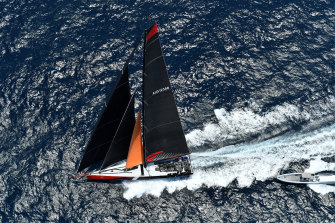 Comanche is on track to claim line honours in the 2019 Sydney to Hobart.