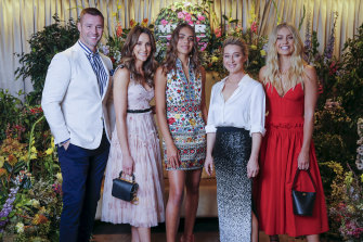 Myer's fab five (from left) Kris Smith, Rachael Finch, Sarsha Chisholm, Asher Keddie, Elyse Knowles.