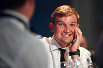 Ollie Wines finished strongly to win the Brownlow Medal on Sunday night.