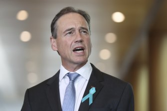 Health Minister Greg Hunt will take immediate leave after he was admitted to hospital with an illness.