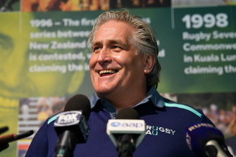 The appointment of Scott Johnson as Australia's first director of rugby was one of the successes of Castle's reign.