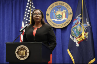 New York State Attorney-General Letitia James announces a lawsuit against the National Rifle Association.