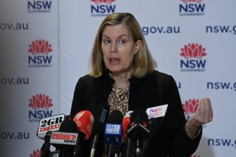 NSW Chief Health Officer Dr Kerry Chant at Tuesday's COVID-19 update.