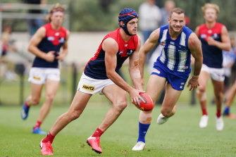 Angus Brayshaw is hopeful of being ready for round one after having his first competitive hit-out for the year in the practice match against North Melbourne.