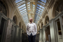 Buzzing: Craig Lightfoot, owner of the the 147-year-old Bendigo Mining Exchange that is under renovation.