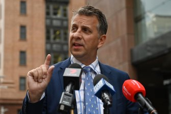 """Transport Minister Andrew Constance says John Barilaro is """"buggering up"""" the state government's stability."""