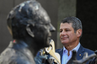 Steve Bracks, with a statue of Labor's longest serving Victorian premier John Cain Jnr, says Daniel Andrews' forced break from politics is a great opportunity to reset.