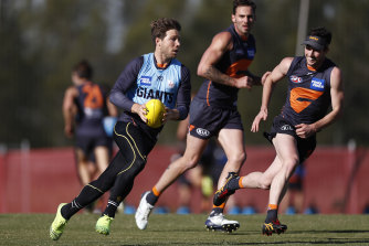 Toby Greene trained strongly on Tuesday and is on track for a return to the GWS line-up, alongside fellow stars Josh Kelly and Lachie Whitfield.