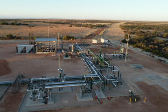 Waitsia Stage 1 gas production facility in WA's Mid-West.