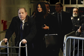 Harvey Weinstein leaves court, followed by his attorney Donna Rotunno.