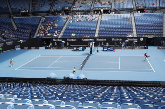 A sparse crowd at Rod Laver Arena for Serena Williams' clash with Anastasia Potapova.