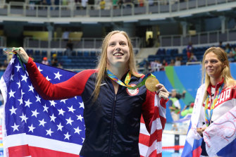 Lilly King after winning gold in Rio.