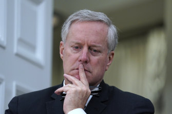 Mr Trump's chief of staff, Mark Meadows, has cried a number of times during the pandemic, in meetings with White House staff.