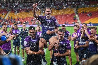 The families of the Storm have been cleared to fly down on Sunday and have only been permitted to attend the game before flying straight back to Brisbane on Sunday night.