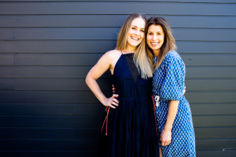 """Kate Gibbs (left) and Meg Mason:  """"Kate's is a practical generosity, and always a little bit more than it needs to be."""""""