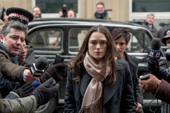 Keira Knightley as Katharine Gun, who was breaching the Official Secrets Act.