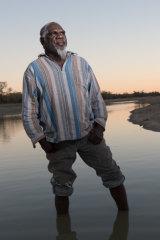 Mudburra elder Ray Dimakarri Dixon near Marlinja in the Northern Territory.